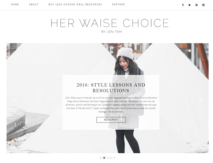 her waise choice