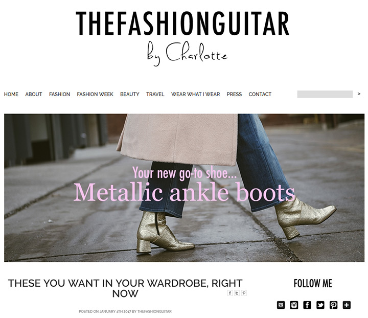 fashion guitar blog