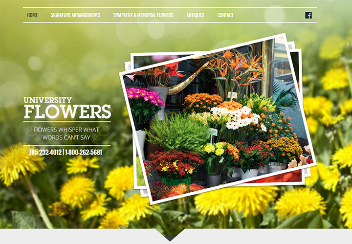 university flowers