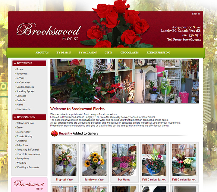 brookswood florist