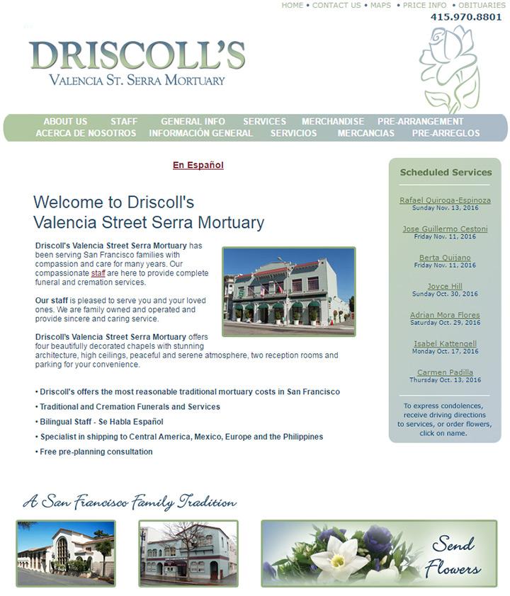 driscolls mortuary