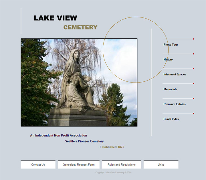 cemetery overlooking the lake