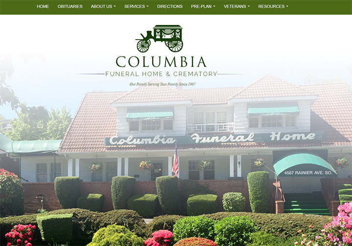 columbia funerals