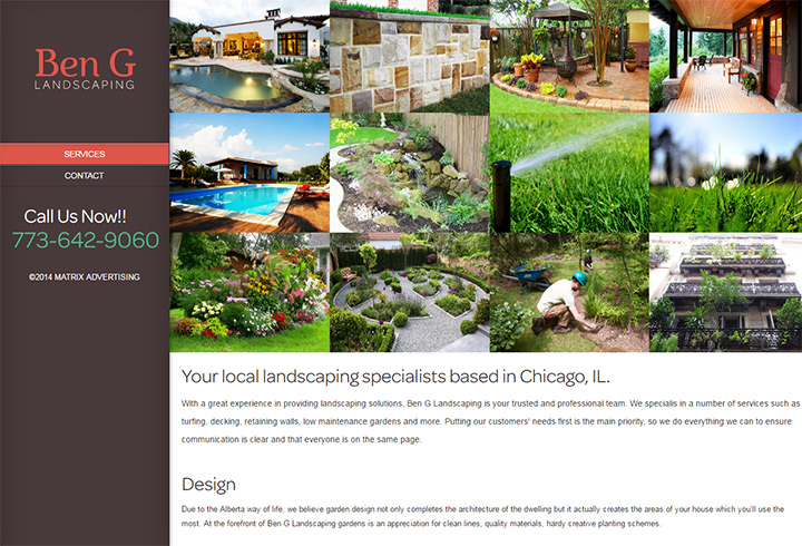 Ben G Landscaping - 100+ Best Landscaping Business Websites