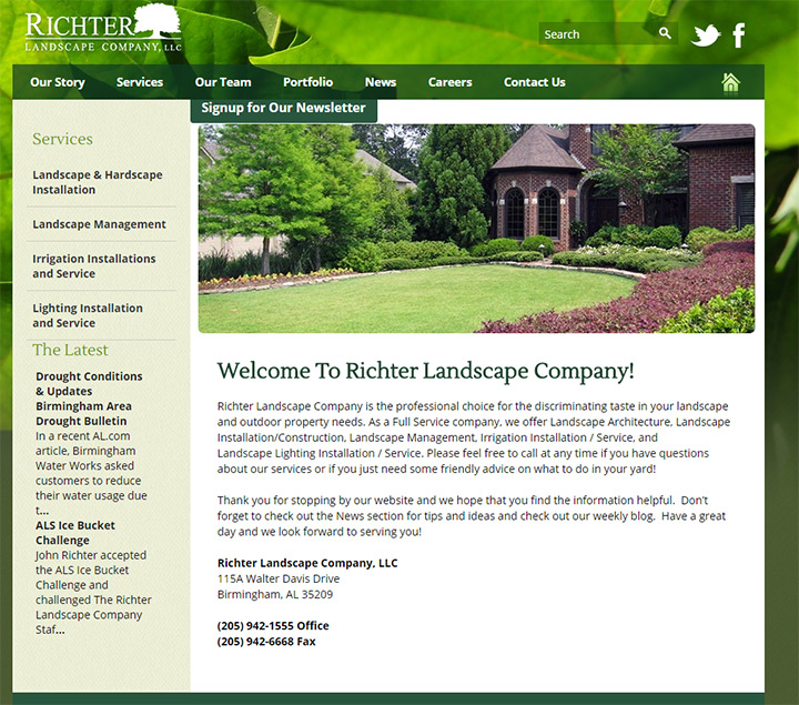 100 Best Landscaping Business Websites