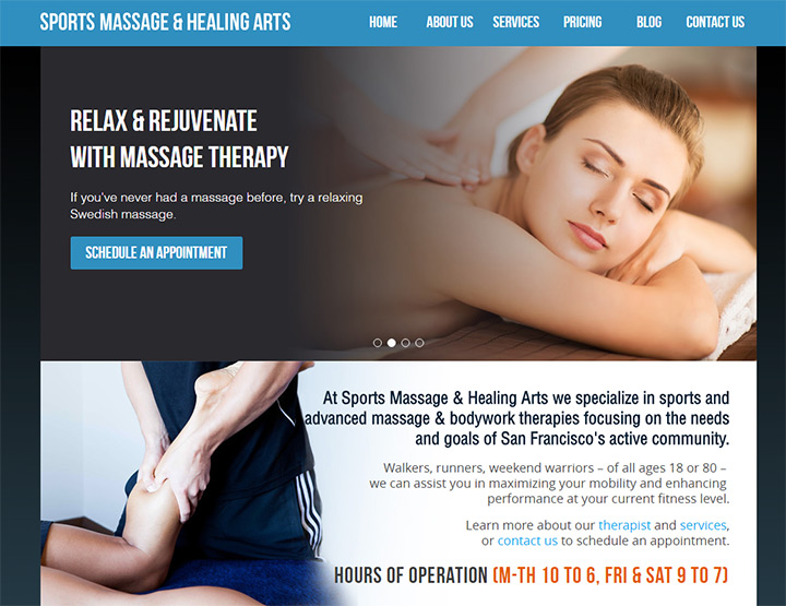 sports massage healing arts