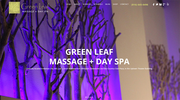 green leaf massage