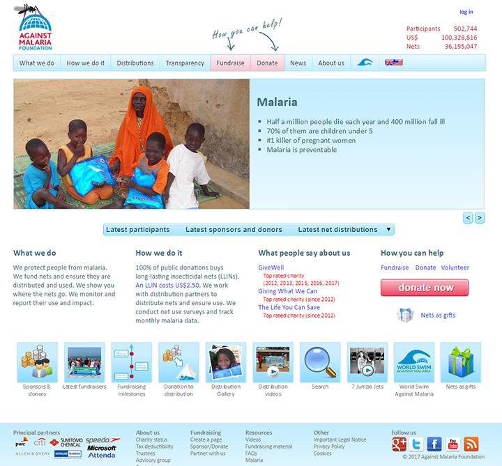 against malaria
