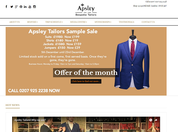 apsley tailors