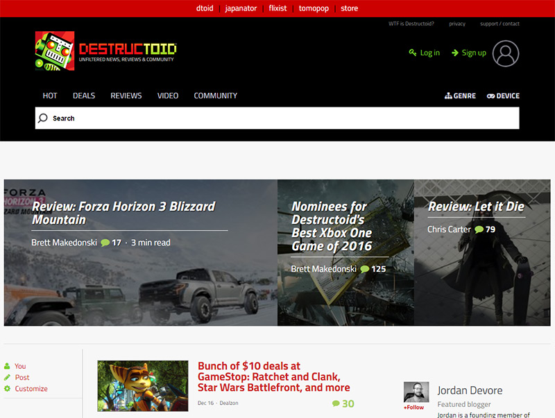 destructoid blog