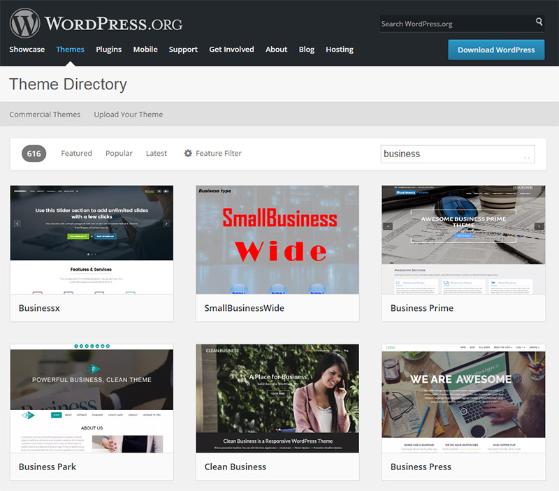 business themes wp