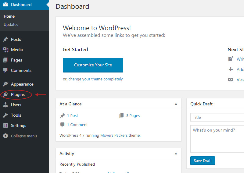 dashboard plugins link