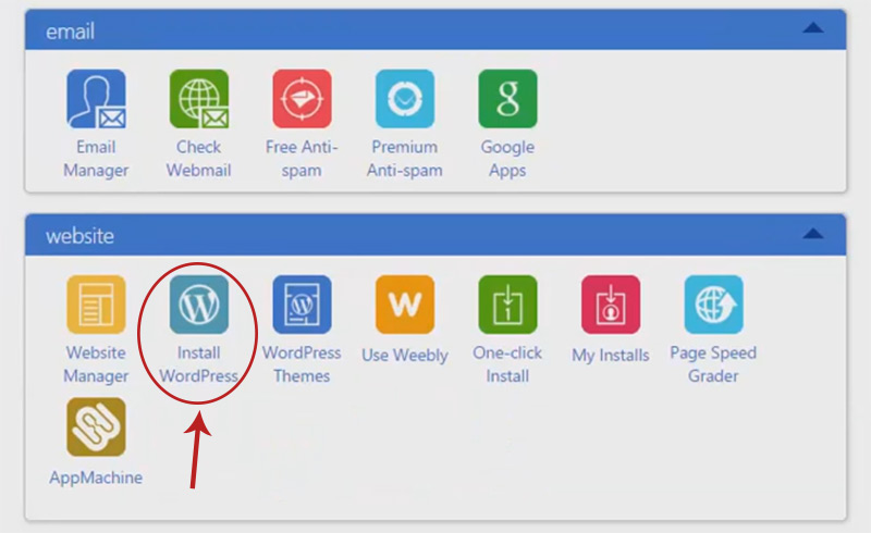 install wordpress link