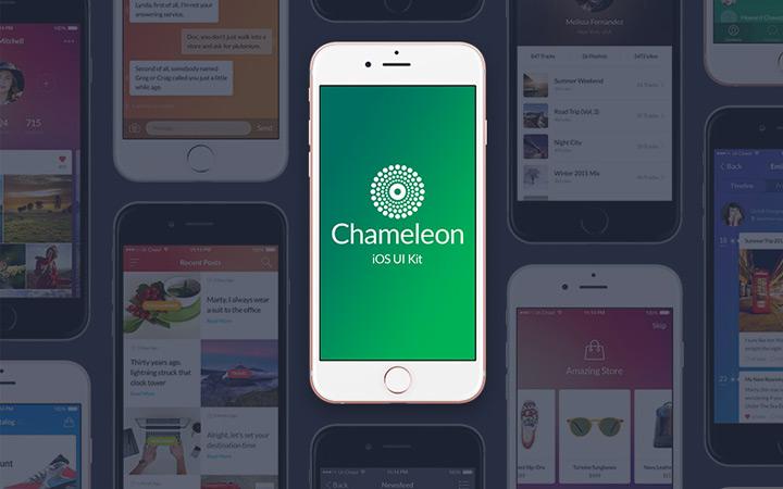 chameleon ui kit freebie
