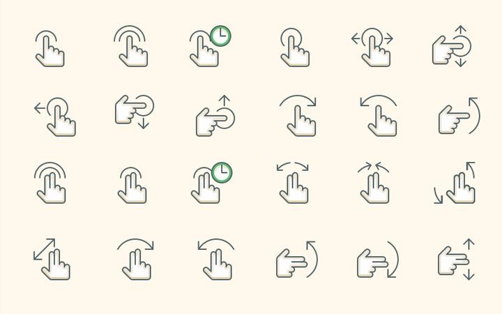 freebie gesture iconset