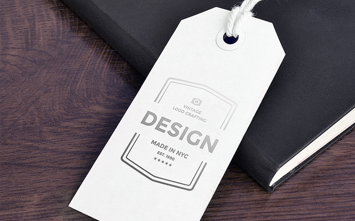 custom psd paper tag