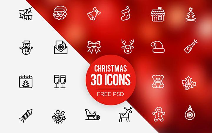 freebie 2015 christmas iconset
