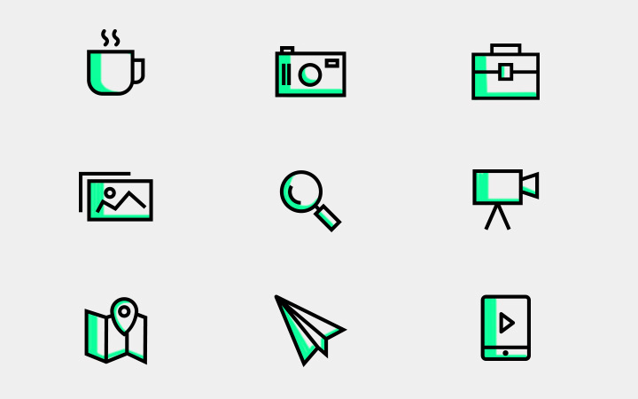 freebie line icons colors