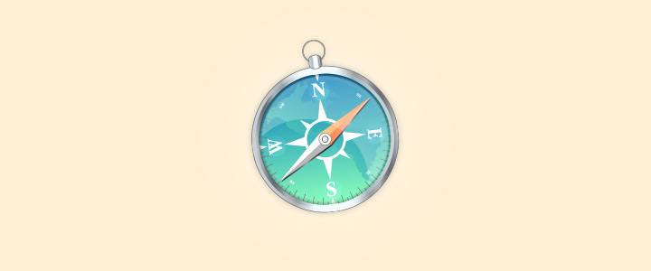 realistic safari compass icon