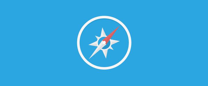 flat safari icon blue