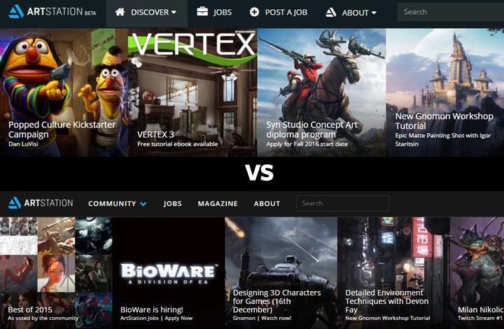 artstation beta vs v1 comparison